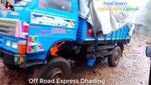 Off Road Express Dhading in Rain And Floody Road   Nepal Danger Road In OffRoad