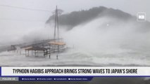 Typhoon Hagibis approach brings strong waves to Japan's shore