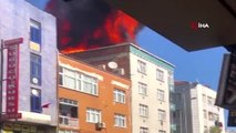 Bağcılar'da çatı alev alev yandı