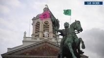 Extinction Rebellion: les militants rassemblés place Royale à Bruxelles