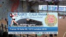 Troisième tour, tirs en relais, France / Italie féminin, La Côte-Saint-André 2019