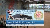 Quatrième tour, tirs de précision, France / Italie féminin, La Côte-Saint-André 2019