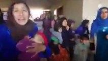 الجيش التركى يحرر نساء وأطفال عرب من السجون الكرديه - سوريا