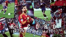 Jugadores de fútbol felicitan a Sergio Ramos por superar el récord de internacionalidades