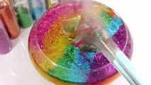 Glitter Mixing Slime Water Clay Learn Colors Surprise Eggs Toys For Kids
