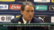 Italy 'must be happy' to have already qualified for Euro 2020 - Mancini