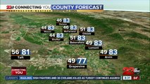 Pleasant temperatures through the weekend