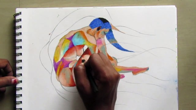 Beautiful Soft Pastel abstract painting on Art Paper.How to make a abstract painting. #Abstract_art_is_art_that_does_not_attempt_torepresent an accurate depiction of a visual reality but instead use shapes, colours.