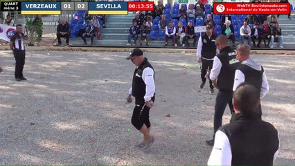 International à pétanque de Vaulx-en-Velin 2019 : Quart VERZEAUX vs SEVILLA