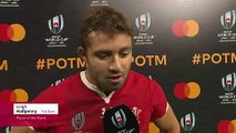 Leigh Halfpenny wins Player of the Match for Wales