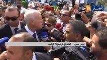 قيس سعيد للشعب التونسي: أنتم تصنعون تاريخ مختلف اليوم وسترتقي إرادتكم إلى مستوى القرار