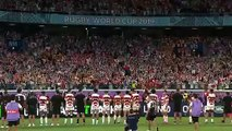 Japan players bow to fans after creating Rugby World Cup history