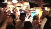 Pub in Osaka goes wild as Japan beat Scotland to claim place in quarter-finals