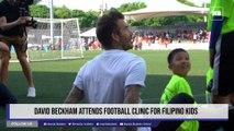 David Beckham attends football clinic for Filipino kids