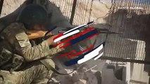 Tel Abyad'daki gümrük kapısına SMO bayrağı çekildi