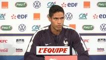 Varane «Montrer un autre visage qu'à l'aller» - Foot - Qualif. Euro