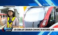Detik-Detik Rangkaian Perdana LRT Jabodebek Diangkat ke Lintasan Rel