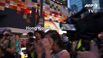 Hong Kong police make arrests as 'flashmob' protests hit pro-Bejing targets