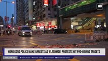 Hong Kong police make arrests as 'flashmob' protests hit pro-Beijing targets