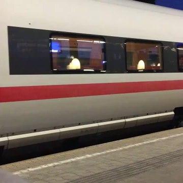 European trains - Train Ice 16038 Sprinter Deutsche Bahn - High speed railways in Germany