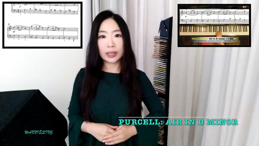 10 Minute Piano Exercise: Henry Purcell Air in D minor RCM LEVEL 2