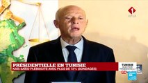 Allocution de Kaïs Saïed, nouveau président élu de la TUNISIE