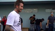 David Beckham attends football clinic in the Philippines