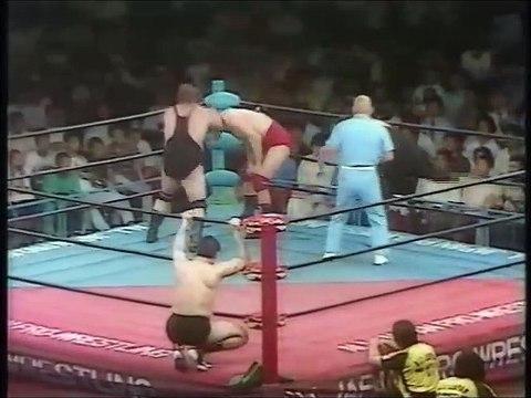Crusher Blackwell/Texas Red (Cousin Luke) vs Giant Baba/Masa Fuchi (All Japan July 20th, 1985)