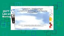 [GIFT IDEAS] Complete Applications of Law and Ethics: A Workbook for California Marriage and
