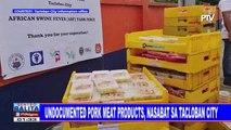 Undocumented pork meat products, nasabat sa Tacloban City
