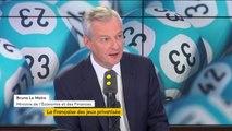 """Privatisation de la FDJ : """"Je souhaite que ce soit une opération populaire, que les Français participent le plus largement possible"""", indique Bruno Le Maire"""