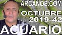 ACUARIO OCTUBRE 2019 ARCANOS.COM - Horóscopo 13 al 19 de octubre de 2019 - Semana 42