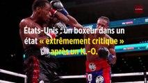 États-Unis : un boxeur dans un état « extrêmement critique » après un K.-O.