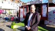 Besançon. Commerces et connectivité place de la Révolution avec la 'boutique connectée