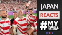 How Japan reacted to Rugby World Cup win! MyRugbyMoment