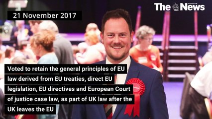 Stephen Morgan - How he voted on more EU integration