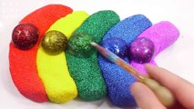 Learn Colors Slime Surprise Toys Glue Glitter Balloon Foam Clay Banana Toys For Kids