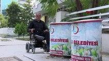 Engelli vatandaş: 'Engelli dostu kent' diyorlar ama kaldırımlara çöp tankları yerleştiriyorlar