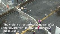 Demonstrators clash with police in Ecuador ahead of talks (2)