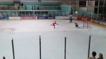 Ice Hockey - Last penalty saved by Petr Cech on his hockey first game
