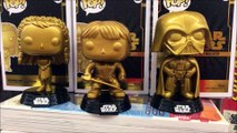 Luke Skywalker ,Princess Leia & Darth Vader Star Wars gold Funko Pop Walmart Exclusive Review