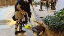 Hong Kong news outlet driver allegedly shot by police during weekend protests