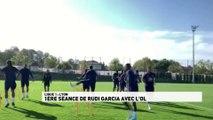Rudi Garcia dirige son premier entraînement