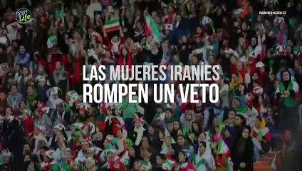 Las mujeres iraníes llenan un estadio de fútbol y rompen un veto