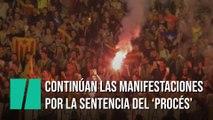 Continúan las manifestaciones en Barcelona