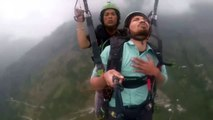 Paragliding Indian Funny video -scared man - funniest video - paragliding went wrong