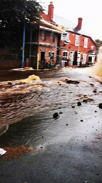 Broken Water Main Causes Major Damage