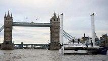 """Energy Observer, le """"bateau du futur"""", fait escale à Londres"""
