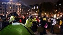 Police shut down Extinction Rebellion protest in London's Trafalgar Square