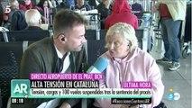 """El espectacular discurso de la señora desde El Prat en T5: """"Le gente me dice que no volverá a Barcelona; ¡nos han secuestrado!"""""""